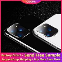 стеклянные линзы 3d оптовых-Телефон камеры заднего объектива протектор экрана для iPhone 11 Pro Max 6 6s 7 8 Plus X XS MAX XR царапинам закаленное стекло против отпечатков пальцев