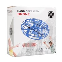 Wholesale ufo remote control for sale - Group buy 2019 UFO Gesture Induction Suspension Aircraft Smart Flying Saucer With LED Lights Creative Toy Entertainment