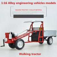ingrosso trattori in metallo-modelli di trattori 01:16 in lega, alta simulazione motocoltivatore, Fonde sotto pressione in metallo, a ruota libera, veicoli giocattolo dei bambini, gratis