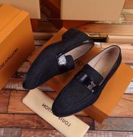 cf877018c Duping520 preto Denim calçados de negócios Homens Vestido Sapatos BOTAS  LOAFERS DRIVERS BUCKLES SNEAKERS SANDALS