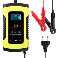 12V 6A Full Automatic Car Battery Charger Intelligent Fast Power Charging Pulse Repair Chargers Wet Dry Lead Acid Battery-chargers with Digi