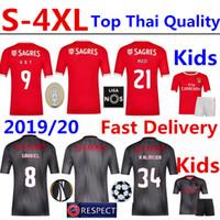 uv t shirts großhandel-SL Benfica Fußball Trikot Tshirt 2019/20 PIZZI Heimtrikot SEFEROVIC T-Shirt RAFA Erwachsene Kinder Trikots T-Shirts Camisa Camiseta Maillot S-4XL