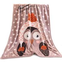 Wholesale raschel blankets resale online - Custom Blankets Color Digital Full Printing Flannel Coral Fleece Child Adult Blanket Air Conditioning Quilt Custom Logo Promotional Gifts