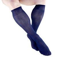erkek çorapları toptan satış-Yüksek Kaliteli Erkek Naylon Ipek Sırf Çorap Düz Renk Şeffaf Seksi Eşcinsel Erkek Çorap Deri Ayakkabı için Iş