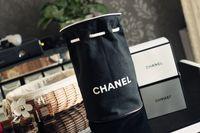 moda külotlu sırt çantası toptan satış-Seyahat Taşınabilir Büyük Kapasiteli Davul Çanta İpli Saklama Çantası Makyaj Çantaları Moda Logo Siyah Tuval Çanta Sırt Çantası