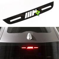 logos bmw pegatinas al por mayor-Luz de freno Etiqueta adhesiva de alto montaje Lámpara de parada Pegatinas para BMW M Logotipo E46 E90 E91 E92 E93 F30 F31 F35 F80 F10 F02 F03 F03 3 5 7 Series