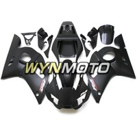 mattschwarze r6 verkleidungen großhandel-Matte Black Sportbike Covers Panels für Yamaha YZF-600 R6 Baujahr 1998 99 00 01 2002 Komplettes Verkleidungskit Brand New Blue Black Plastic Cowling