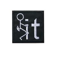 ingrosso sacchetto nero del vestito-5 cm nero IT uomo ricamato patch cucire ferro su badge per borsa abito jeans cappello maglietta fai da te appliques decorazione artigianale