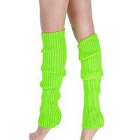 ingrosso scarpa coscia pura-Boot Polsini Warmer Knit Leg calze sexy Medias Pure Color calzini lunghi delle donne del ginocchio Coscia calze per signore calzettoni caldi