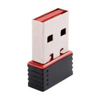 tarjeta de red wifi usb al por mayor-Adaptador inalámbrico Nano 150M USB Wifi 150Mbps IEEE 802.11n g b Mini Adaptadores Antena Chipset MT7601 Tarjeta de red
