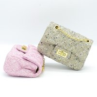 Wholesale pink backpacks chinese for sale - Group buy Distinctive2019 Joker Children Mini Packet Wear resisting Cloth Diamond Lattice Chain Bag