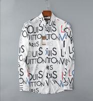 camisa aberta do peito venda por atacado-2019 negócio americano de auto-cultivo camisa xadrez, designer de moda de manga comprida de algodão camisa casual listrado co-dress camisa # 018 camisa