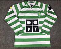 camisa do rugby do vintage venda por atacado-2003 ronaldo Retro rugby Jersey Long Sleeve Vintage 03 Rugby de Lisboa Camisas Lisbon Calcio MAGLIA Camiseta