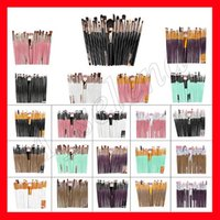 mehrfarbige make-up pinsel großhandel-20 Stücke Professionelle Make-Up Pinsel Set Pulver Lidschatten Eyeliner Lippenpinsel Bilden Pinsel schönheit werkzeuge pincel maquiagem Multicolor