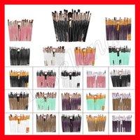 ingrosso spazzole multicolori di trucco-20pcs pennelli trucco professionale set polvere ombretto eyeliner pennello per labbra pennelli trucco strumenti di bellezza pincel maquiagem multicolore