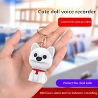 Wholesale dog mp3 resale online - E30 mini cute Dog shape Professional HD recording pen remote noise reduction recorder with the student class MP3 player