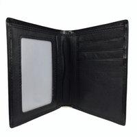 en iyi kredi kartı cüzdanı toptan satış-Yeni en çok satan erkek iş siyah cüzdan kredi kartı tutucu kart seti tasarımcı cüzdan fotoğraf ücretsiz kargo toz torbası high-end hediye kutusu
