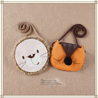Wholesale cute cartoon fox bag for sale - Group buy Baby Girls Fox Lion Messanger Bag Cotton Cartoon Cute Cross Body Kids Animals Design Mini Shoulder Bag Boutique