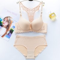 ingrosso biancheria intima francese romantica-Baharcelin Sexy Front Closure Bra Donna Young Girl Bra French Romantic Gathered Cute Sweet wire free Set di biancheria intima
