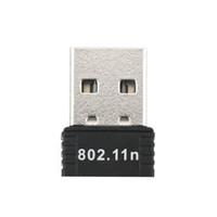 wifi anteni oluştur toptan satış-USB Kablosuz wifi Adaptörü dahili 2dB Anten 150 Mbps Ağ LAN Kartı Masaüstü için Taşınabilir Mini Router 802.11b / g / n