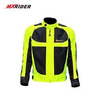 schutzkleidung rennen großhandel-Motorradjacke Herren Summer Moto Protective Gear Jacke Herren Racing Reflective Ochsenbekleidung Motorradjacken