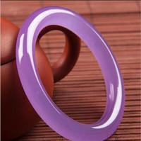 violette samen großhandel-Natürliche authentische A Waren violett Luo Luolan Runde lila Quarz Rock Jade Armband Jade Armband weiblichen Eissamen Jade Armband Großhandel