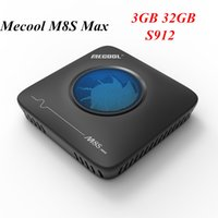 Wholesale s912 tv box resale online - MECOOL M8S Max Amlogic S912 G32G Android TV BOX K Streaming G G Wifi Smart TV BOX With Cooling Fan