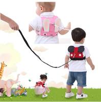 Wholesale baby toddler walking belt resale online - Child anti lost strap Baby Walking Harness Toddler Kids Anti lost Safety Shoulder Strap Belt Cartoon Design Baby Safety strap color