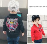 coat kids clothing al por mayor-2019 Nueva Primavera Otoño Ropa de la chaqueta Chicos de Bebé Abrigo de Dibujos Animados Impreso Vuelo chaqueta Otoño Niños prendas de abrigo Ropa de Niños