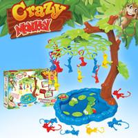 macacos família venda por atacado-China Fornecedor Quente Engraçado Popular Crianças Brinquedo De Plástico Crianças Brinquedo Novidade Brinquedos Família Jogo Caindo Macaco Macaco Jogo caindo macacos