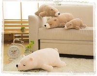 polare tiere großhandel-35cmChildren Stofftier-Spielzeug-Puppe-Kissen-Super Soft Polar Bear Plüsch Peluches Tier-Spielzeug-Kissen Kindergeburtstag Weihnachtsgeschenk
