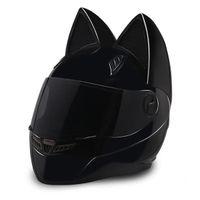 NTS-003 NITRINOS Brand motorcycle helmet full face with cat ears Personality Cat Helmet Fashion Motorbike Helmet size M  L XL  XXL