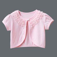 niedliche kurze mäntel großhandel-Mode Mädchen Bolero Kinder Spitze Hochzeit Mantel für passendes Kleid Nette Baby Kurze Jacke Formale Kinderkleidung