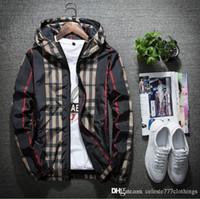 casacos de mola de nylon venda por atacado-Nova jaqueta mens primavera fina casuais com capuz zipper coats homens hoodie blusão Juventude estilo de rua tendência homens e mulheres ambos primavera roupas