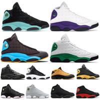 retros 13 al por mayor-Air retro jordan 13 13 s Hombre Zapatillas de baloncesto COURT PURPLE Gorra y bata Zapatillas deportivas clásicas para hombre Zapatillas transpirables