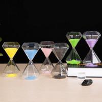 glas sanduhr sand timer großhandel-Sanduhr 5 Minuten Timer Diamantglassandtimer Kinder Weihnachtsgeschenke zu Hause Desktop-Dekoration Kinder beim Zähneputzen