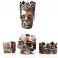 Wholesale spice grinder color resale online - King Skull Tobacco Herb Grinder Layer Spice Crusher cm Ghost Head Smoking Grinders Hand Muller Smoking Pipe Accessories Color