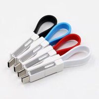 Wholesale charging cable key online – 3 in Key Phone Chain USB Magnetic Charging Cable Sync Data Cable For iPhone Android Type C Mini Portable Mobile Phone Charger