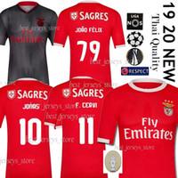 camiseta de futbol de jones al por mayor-Camiseta de fútbol tailandesa 2019 SL Benfica Camiseta de fútbol JOÃO FÉLIX GRIMALDO RUBEN DIAS 19 20 PIZZI RAFA JONES SEFEROVIC Uniformes para hombres y niños