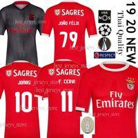 jersey de futebol jones venda por atacado-Thai 2019 SL Benfica Camisas de Futebol JOÃO FÉLIX Camisa de Futebol GRIMALDO RUBEN DIAS 19 20 PIZZI RAFA JONES SEFEROVIC Homens + Uniformes Infantis