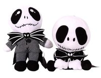 Wholesale 20cm The Nightmare Before Christmas Jack Skull Plush Toy Styles Skull Jack Stuffed Doll Christmsa Kids Gift EEA616