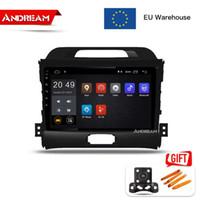 Wholesale car audio dvd head unit for sale - Group buy 9 inch Android Quad Core car player for KIA Sportage R GPS navigation Head Unit Radio audio multimedia car dvd