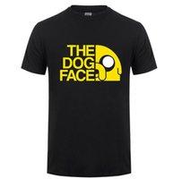 tempo de aventura jake venda por atacado-Personalizado T-shirt para homens Roupa Adventure Time Jake algodão camiseta manga curta Tops Tee