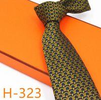 ingrosso marchi di cravatta famosi-2019 famoso marchio cravatta a mano affari vestito regalo confezione regalo cravatta cravatta 8cm di alta qualità degli uomini di alta qualità accessori cravatta