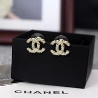 Wholesale football jewelry for women resale online - 2019 Luxury Earrings Brand Letters Dangle Drop Gold Silver Pearl Earring Gold Silver Ear Studs For Women Wedding Party Jewelry