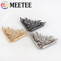Wholesale edge protector corner resale online - Meetee women Bag Edge Angle Corner Protector Metal Buckles Luggage Bag Decorative Buckles Clothing DIY Leather Crafts Accessories BD303
