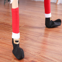 Wholesale furniture table legs for sale - Group buy Christmas Chair Leg Socks Cloth Gloves Floor Furniture Protection Table Foot Covers For Party Dinner Christmas Decoration PC