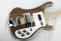 ingrosso basses collo-2019 Bass Guitar Ricken 4001 RARE TRASLUCIDA NOCE annata 4000 4003 4 bassa della stringa della chitarra elettrica del collo Thru Body One PC collo corpo