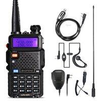 walkie talkie vhf baofeng venda por atacado-Baofeng UV-5R walkie talkie dois sentidos versão de actualização de rádio cb Baofeng uv5r 128CH 5W VHF UHF 136-174MHz 400-520Mhz