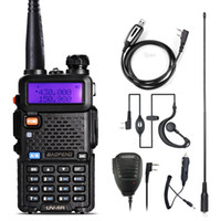 uhf cb zwei-wege-radios großhandel-Baofeng UV-5R Walkie-Talkie Zweiweg cb Radio Upgrade-Version baofeng uv5r 128CH 5W VHF UHF 136-174MHz 400-520Mhz